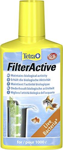 Tetra FilterActive Filterstarter (mit hochaktiven lebenden Bakterien, unterstützt biologische Aktivität im Aquarium, beschleunigt Abbau von Schadstoffen, optimiert Reinigungsleistung des Filters), 250 ml Flasche