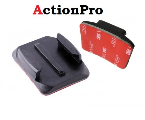 Action Pro Curve 3M Adhesive Sticky Mount for Go Pro Hero 5 4 3 2 S J Cam Yi, Black