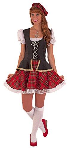 Kostüm Schottland Kinder - Karneval-Klamotten Schotten-Kostüm Damen Schotte Kostüm Sexy Schottin Kostüm Schottin Highlands Damen Karneval Schottland Damen-Kostüm erhältlich in Größe 38-44