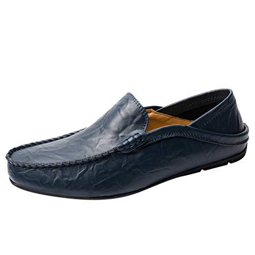 LILIHOT Herren Mokassin Bootsschuhe Leder Loafers Schuhe Flache Fahren Halbschuhe Slippers Herren Schnürhalbschuhe Männer Müßiggänger Sommer beiläufige Elegante treibende Schuhe Klassische - Dr. Scholls Leder Halbschuhe