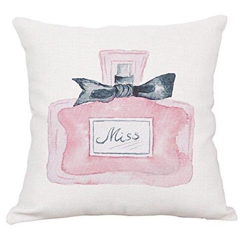 Einfache Parfüm-Flasche Kissenbezüge Bettwäsche Auto Sofa Büro Wohnzimmer Dekoration Kissen (Kissenbezüge Set Mit 2 Stück),D - Parfüm-flasche Sammlung