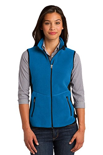 Port Authority Damen rtek Pro Fleece Fullzip Hood Vest Blau - Imperial Bl/Bk