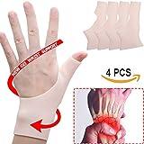 Silikon Handgelenk Stützklammer, 4 PCS Handgelenkbandage für Karpaltunnel, Karpaltunnel Silikon Handgelenk-Klammer groß,handgelenkbandage sehnenscheidenentzündung für Tendosynovitis,Daumen-Schmerz, Rheumatism, Arthritis