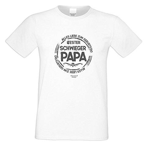 Bester Schwiegerpapa Super Cooles Schwiegervater Fun-Oberteil als Geschenke-Idee mit dem Motiv: Farbe: weiss Weiß