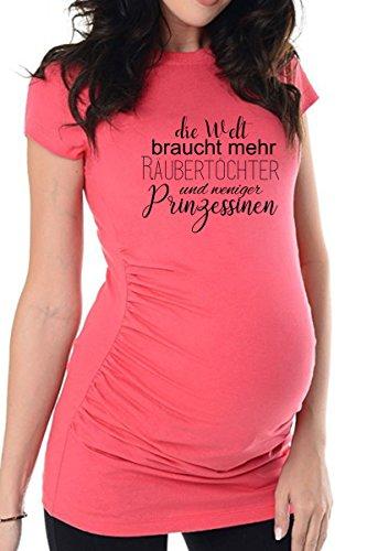 bellytime Rosa Räubertochter, 40, Umstands T-Shirt/Schwangerschafts T