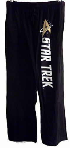 Star Trek Herren Schlafanzug Schwarz Schwarz Gr. X-Large, Schwarz