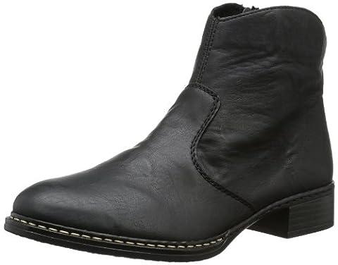Rieker 73461, Damen Kurzschaft Stiefel, Schwarz (schwarz/00), 42 EU (8 Damen UK)