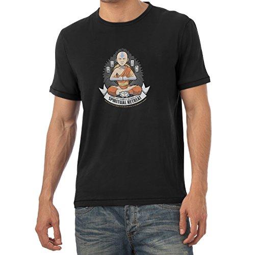 Texlab Air Temple Island Spiritual Retreat - Herren T-Shirt, Größe M, Schwarz (Elemente T-shirts)