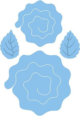 Marianne Design MARLR0162 Craftables Stanzschablone, Englische Rose, Metall, blau, 7, 3 x 7, 1 x 0, 4 cm