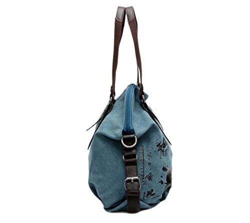 Frauen Schulter Diagonal Tasche Sommer Retro Leinwand Tasche Handtasche Purple