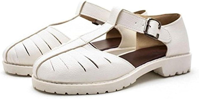 Scarpe piane Summer Mary Jeans Sandali Retro Coloreeee Hollow Hollow Hollow grandi dimensioni scarpe 40 41 42 43 , bianca deluxe... | Qualità  03ca43