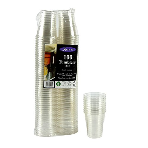 100 Tumblers 25cl (250ml) Crack Resistant by Jena (UK)