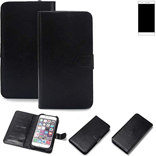K-S-Trade 360° Wallet Case Handyhülle Phicomm Passion 2S Schutz Hülle Smartphone Flip Cover Flipstyle Tasche Schutzhülle Flipcover Slim Bumper schwarz, 1x