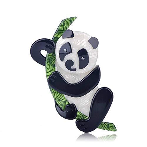 CCJIAC Niedliche Acryl China Panda Form Broschen handgemachte Bouquet Hochzeit Schal Accessoires Anstecknadeln Tier Brosche Boutonniere China Bouquet