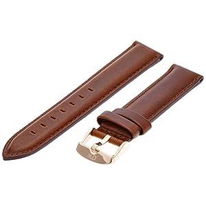 Daniel Wellington Damen Uhren-Armband Classic St Mawes Leder braun Schliesse roségold DW00200035