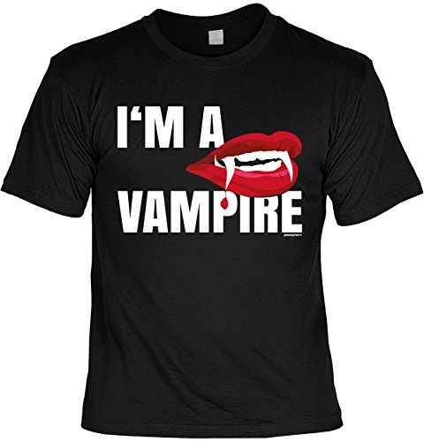 Fun Shirt für Halloween - Im a Vampire, Vampir - Alternatives Kostüm, Verkleidung - Lustiges Outfit - (Herren Top 100 Kostüme Halloween)