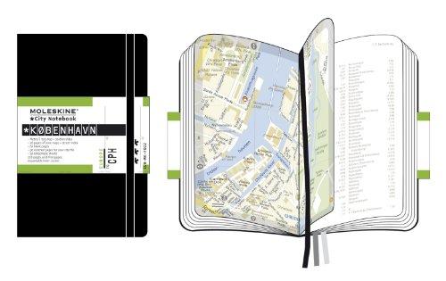 Moleskine City Notebook COPENHAGUE Couverture rigide noire 9 x 14 cm