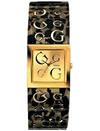 Guess - W11001L1 - Montre Femme - Quartz Analogique - Manchette - Bracelet Rigide en Résine Marron