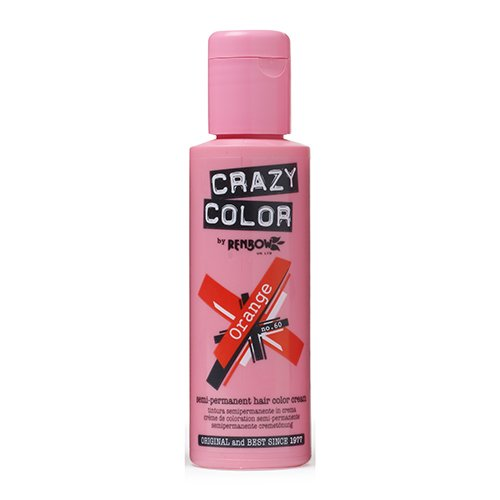 Renbow Crazy Color Semi-Permanent Hair Color Dye orange 60-100 ml, 1er pack (1 x 115 g)