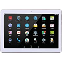 "SANNUO Tablette Tactile 10,1 ""Android 7.0 (A7 Quad Core 1.3GHz, 16GB, 2G / 3G Double-SIM, cámara doble, Bluetooth, WiFi, OTG, GPS) (White)"