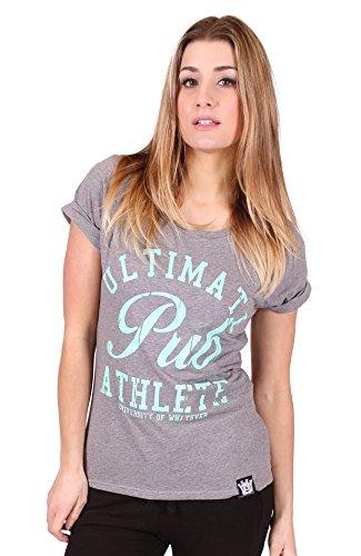 University of Whatever Damen Verwaschen T Shirt Kurze Ärmel Graphic T Shirt's EP12 Collge Grau Small