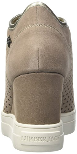Lumberjack Danielle, Sneaker a Collo Basso Donna Beige (Taupe/Gold)