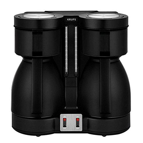 Krups KT8501 Doppel-Kaffeeautomat Duothek Thermo, schwarz