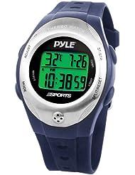 Pyle-Uhr mit Thermometer, Stoppuhr und Countdown-Timer (blau)