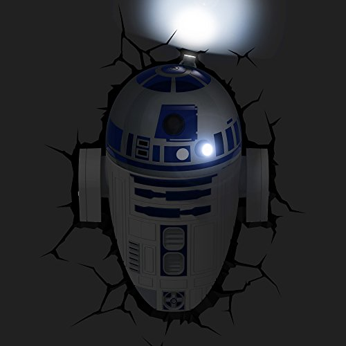 41rbk sDySL - STAR WARS FX14233 Lampara 3D de Pared R2 D2