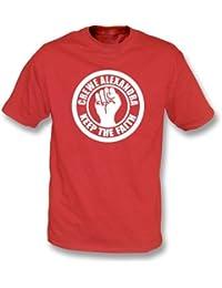 PunkFootball Crewe Keep the Faith T-shirt, Color Red