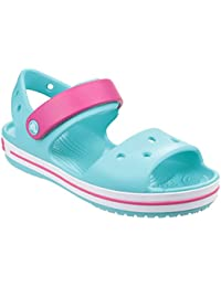 fbac3f5a4b7ba Crocs Childrens Kids Crocband Sandals Clogs (12 UK Junior) (Pool