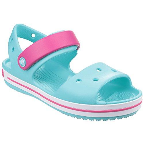 Crocs - sandali tipo clogs - bambina (22-23 eu) (blu chiaro/rosa)