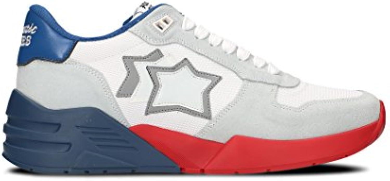 Atlantic Stars Hombre MARSBBSN002 Blanco Cuero Zapatillas  -