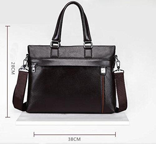 Männer Handtasche Secant Messenger Messenger Leder Business Aktenkoffer Bundle Datei Computer Tasche Brown