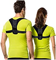 KENNY ORIGINALS Posture Corrector, Posture Back Brace for Men and Women Comfortable Upper Back Brace Clavicle Support Device