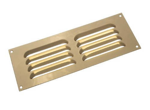 25 X Messing poliert Louvre Grille Vent Belüftung Cover 9 X 3 Inch