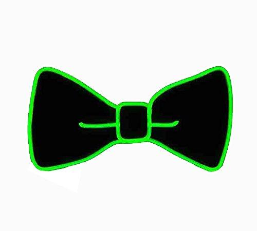 LED Fliege Kostüm Zubehör,Unisex Leuchtende Fliege Angetrieben durch LED-Batterie,Drei Blitzmodi für Fancy Dress Party/Party/Halloween Karneval/Cosplay/Bar Nacht Leistungen/personalisierte Dekoration. (Fluoreszierendes Grün)