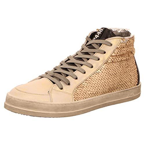 P448 Damen Sneaker E9Skate Paillettes Gold 667597