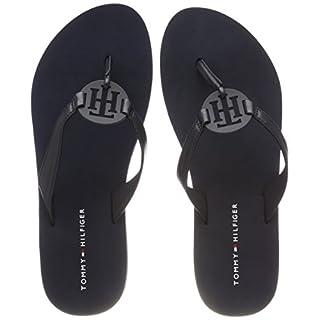Tommy Hilfiger Damen Tommy Loves NY Beach Sandal Zehentrenner, Blau (Midnight 403), 40 EU