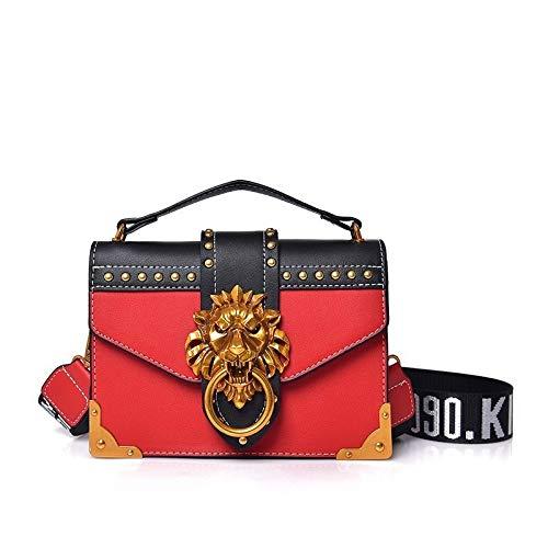 HHdstb Mode Metall Löwenkopf Mini Kleine Klappe Schulter Crossbody Tasche Für Weibliche Handtaschen Frauen Taschen Bolso Mujer Kupplung -