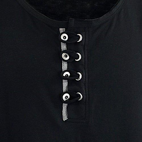Übergrössen !!! WOW !!! Hippes T-Shirt Kurzarm LAVECCHIA 3 Farben LV 118 Schwarz