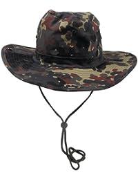 Max Fuchs Busch sombrero (schlapph.), camuflaje, con banda de barbilla, de espacios, hombre unisex, color camuflaje, tamaño S(55)