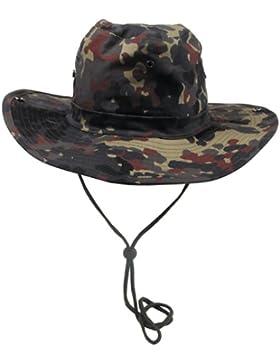 Max Fuchs Busch sombrero (schlapph.), camuflaje, con banda de barbilla, de espacios, hombre unisex, color camuflaje...