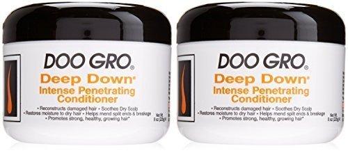 Afro Soin de cheveux Doo Gro Profond Down Intense Pénétrante Après-shampooing (227g) - Paquet De 2 Offre x 227g