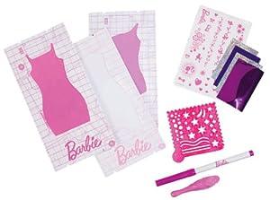 Mattel Barbie W3916 - Kit de diseño de Pegatinas para Vestido de muñeca Barbie, Color Morado