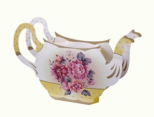 Talking Tables Truly Scrumptious Vase Vintage à Motif Floral en forme de Théière, Décoration pour Goûter Festif, Mariage, et Fête d'Anniversaire, Multicolore