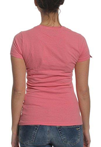 Superdry T-Shirt Women PREMIUM GOODS RAINBOW Foam Green Beach Pink