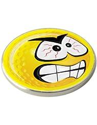 Golf-Ballmarker, wütendes Smiley, Gelb