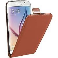 Samsung Case Cover Per il caso di cuoio di Samsung Galaxy S6 verticale flip Genuine Split ( Color : Brown )