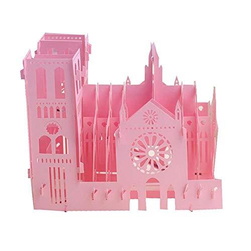 HEIRAO Gruß-Karten des Geburtstags 3D Notre Dame Cathedral Retro Paper Cuttings Cards (Aufbewahrungsbox Gruß-karte)